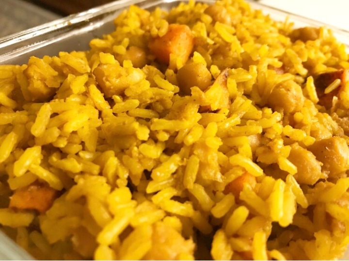 Agave Maple Sweet Potato & Chic Pea CurryRice